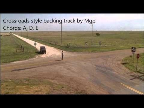 Crossroads style backing track in A