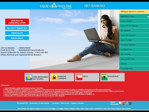 apply online Internet Banking  in canara bank.