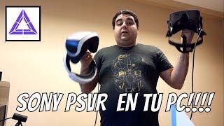 JUGANDO CON EL PC Y PLAYSTATION VR - FUNCIONA STEAM - TRIDEF 3D