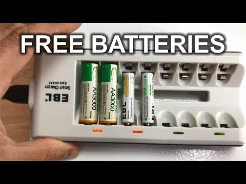 How to NEVER Pay For AA/AAA Batteries Again In Your Life