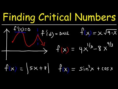 Finding Critical Numbers