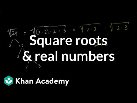 Square roots and real numbers | Pre-Algebra | Khan Academy