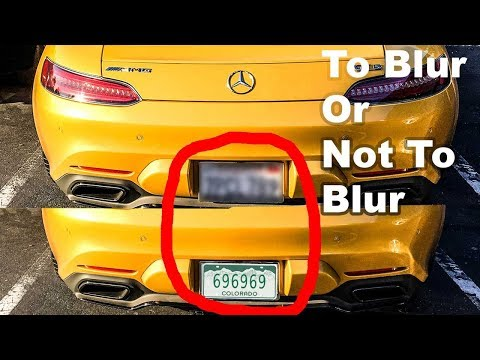 Should you share your licence plate# on the internet? (Discussion)