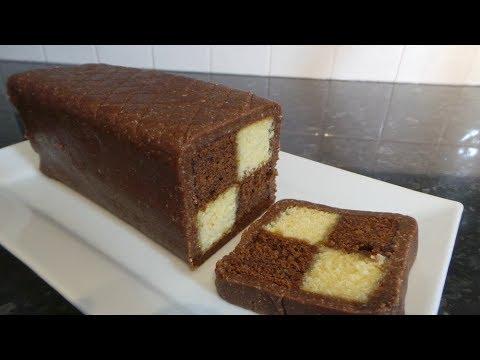 Chocolate & almond Battenburg
