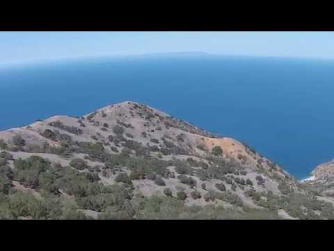 Flying Drone Over Santa Catalina Island & View of Long Beach In Distance - DJI Phantom