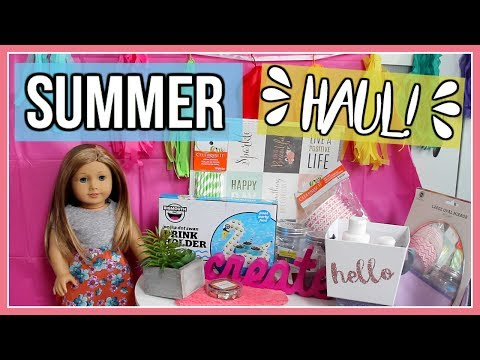 AG FUN FINDS! | HUGE Target Dollar Spot and Michaels Haul! 2017 | American Girl Dolls