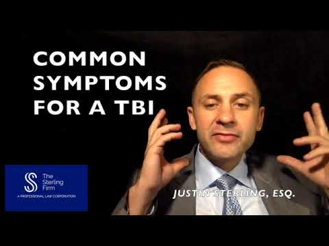 WHAT ARE THE COMMON SYMPTOMS OF A TRAUMATIC BRAIN INJURY?
