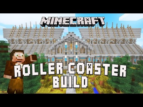 Minecraft:  How To Build A Roller Coaster Station  (Scarland Coaster Build Ep.2)