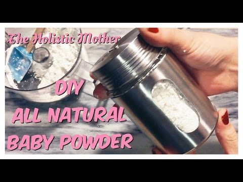 DIY All Natural Baby Powder With Essential Oils!