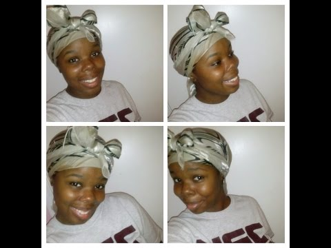 How To Tie Your Hair Up With a Silk Scarf