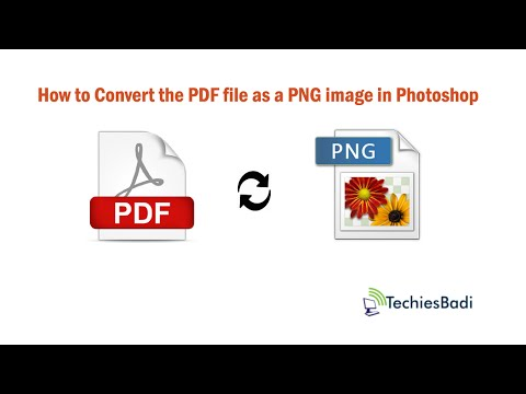 How to Convert the PDF file as a PNG image in Photoshop