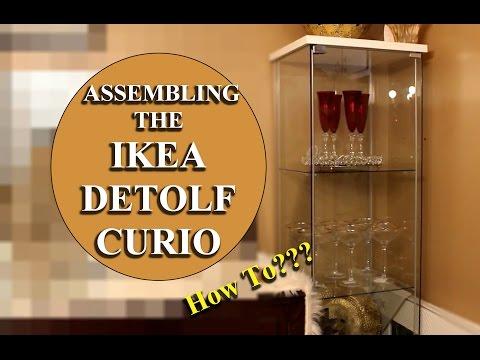 (IKEA) --  DETOLF GLASS DOOR DISPLAY CABINET..