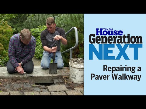 Generation Next   Repairing a Paver Walkway