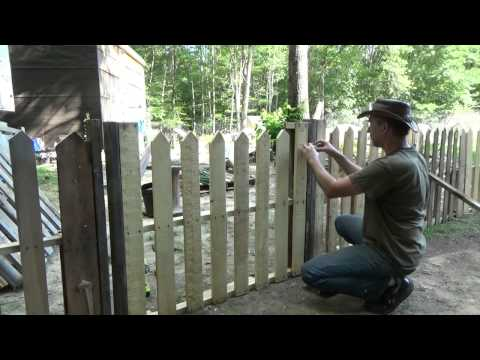 Building My Second Pallet Wood Picket Fence Gate