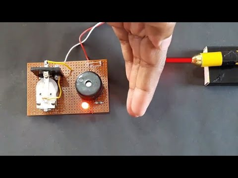 how to make a laser security alarm using relay