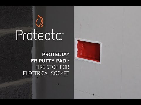 Protecta FR Putty Pad - Fire stop for electrical socket