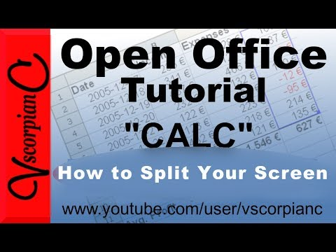 OpenOffice CALC Tutorial - How to Split Screen by VscorpianC