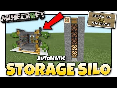 Minecraft - AUTOMATIC STORAGE SILO [ God Vault Preview ] [ Tutorial ] Java - Bedrock - Console