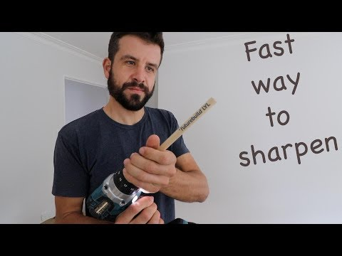 How to Sharpen a Carpenter's Pencil FAST