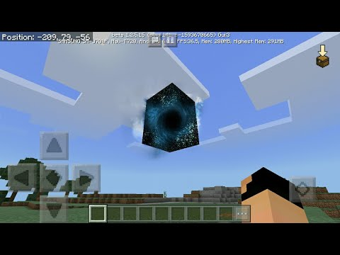 MCPE 1.2 How To Make Realistic Black Hole | Command Block Creation