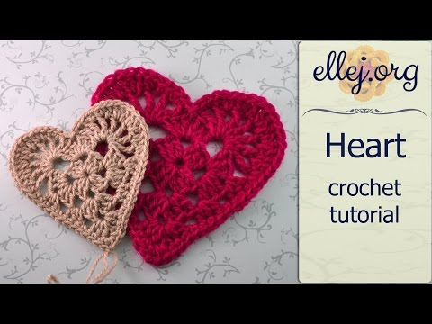 How To Crochet Granny Red Heart Motif ○ Free Step by Step Crochet Tutorial