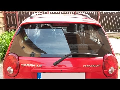 How to change the rear window wiper arm Chevrolet Spark / Matiz, audio: English