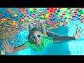 Download  Giant Underwater Box Fort Super Wubble Bubble Swimming Pool Adventure!! MP3,3GP,MP4