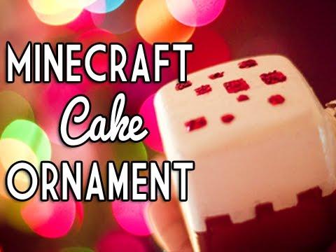 Minecraft Cake Ornament - DIY