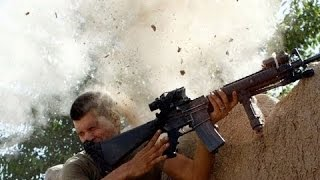 U.S. Marines in Combat with Insurgents - Heavy Firefight in Afghanistan near Sangin
