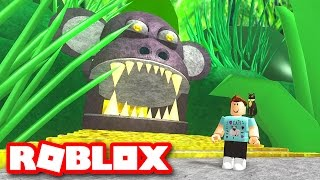Roblox Adventures / Escape the Jungle Obby / Eaten by a Giant Evil Ape!