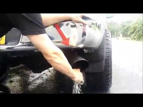 water washing the cummins exhaust