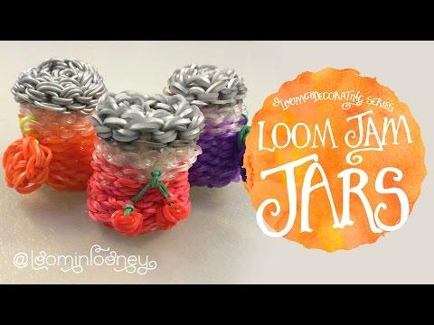 Loom Jams or Spice Jars: 3D Rainbow Loom Decorating Series