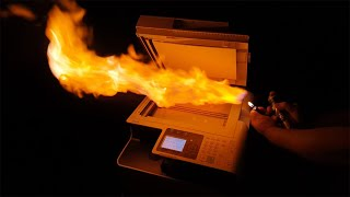 What happens if you photocopy fire