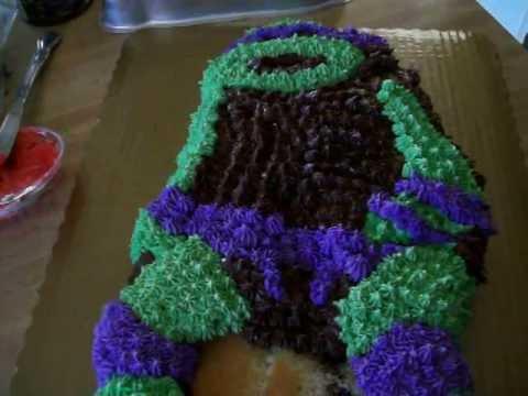 My Son's Birthday Cake I'm Making