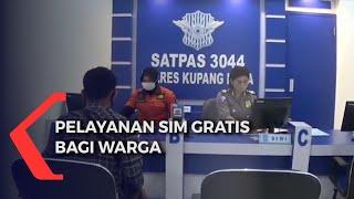 Warga Mendapat Layanan SIM Gratis di HUT Bhayangkara