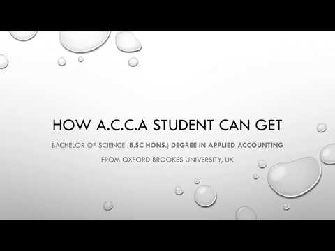 How to Get/Claim B.Sc Degree - ACCA Students - Oxford Brookes University