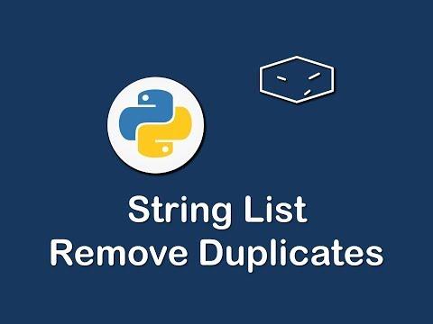 string list remove duplicates in python