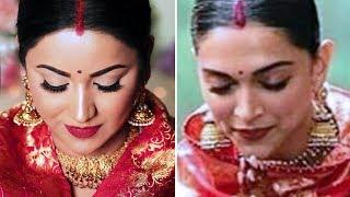 "How To: Deepika Padukone ""SINDOOR"" LOOK | Complete Hair and Makeup Tutorial"