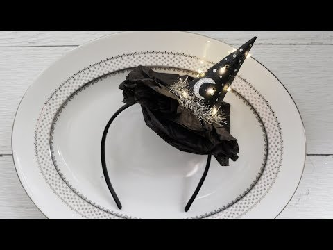 Making a Lighted Witch Hat Headband for Halloween!