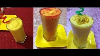 Mango Shakes Recipe | Summer Refreshment Drinks| 3 Types Of Milkshakes | My Kitchen My Dish