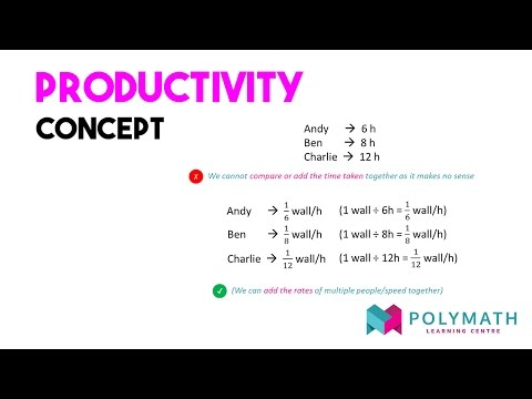 P6 Singapore Math - Rate and Productivity
