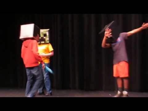 SINGING A MINECRAFT SONG AT MY SCHOOL TALENT SHOW (Congratulations - Galaxy Goats)