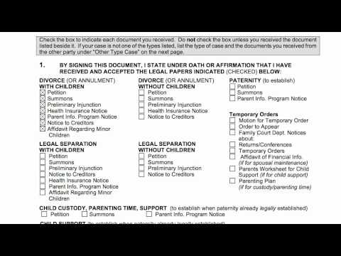 How-to Divorce Arizona, Acceptance of Service.mp4