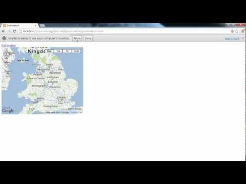 HTML5 Tutorials: Detect user's location with HTML Geolocation (Part 1/4)