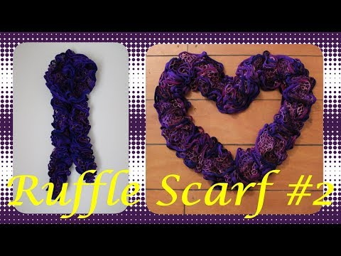 How to make Crochet Ruffle Scarf  - Version #2