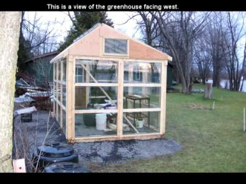 How to build a greenhouse using only windows & wood