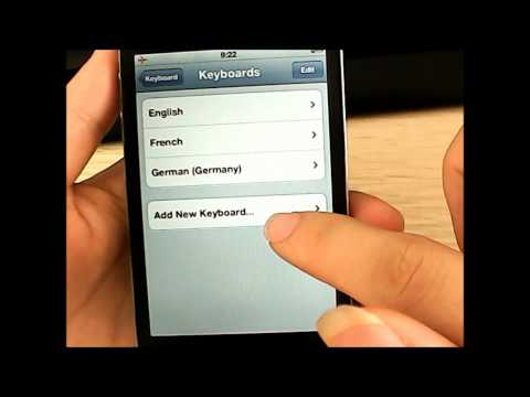 How to turn on/add international keyboards on iPhone 4S