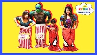 SURPRISE EGGS Carnival Games For Kids Toys Surprise Challenge Family Fun Activities Ryan ToysReview