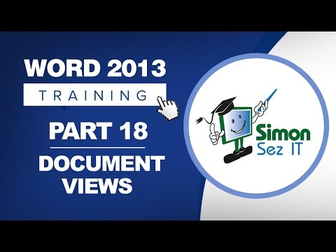Word 2013 for Beginners Part 18: Print Layout, Web Layout, and Draft Views