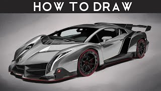 how to draw lamborghini huracan step by step. Black Bedroom Furniture Sets. Home Design Ideas
